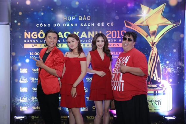 (Từ trái qua) Diễn viên Đông Dương, Khánh Trinh, Thảo Trang, Đạo diễn – Diễn viên Hoàng Mập